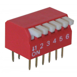 6-POSITION DIP SWITCH, PIANO STYLE