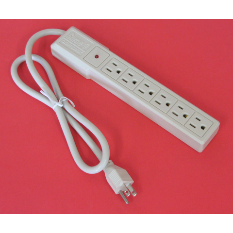 SURGE PROTECTOR, 6-OUTLET