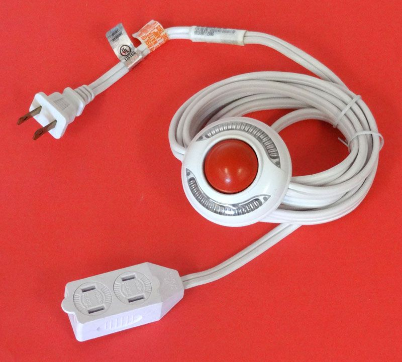 Lighted Foot Switch Extension Cord All Electronics Corp