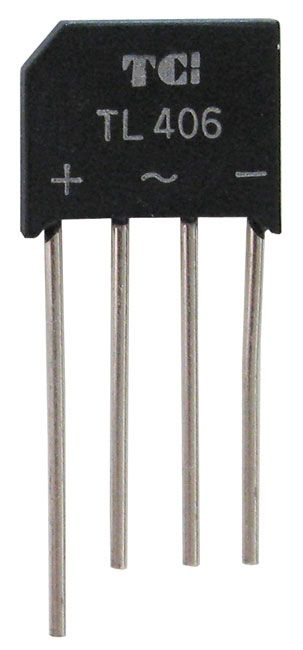 4 AMP 600 VOLT BRIDGE RECTIFIER