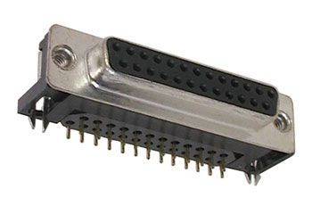 DB-25S, RT.ANGLE, PC MOUNT CONNECTOR