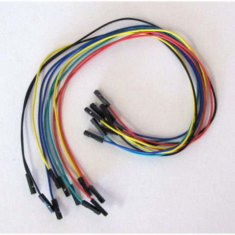 "12"" JUMPER WIRES, F/F 10-PACK"
