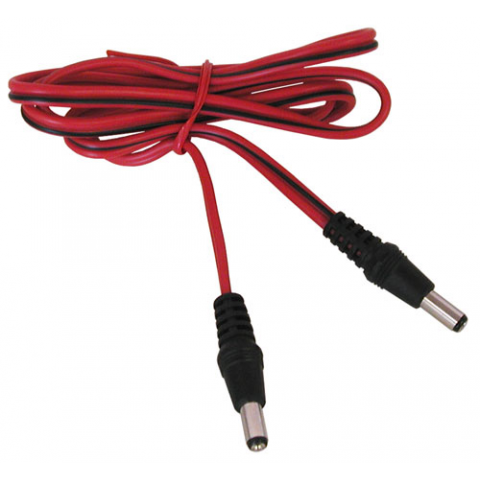 2' CABLE WITH 2.1MM COAX POWER PLUGS BOTH ENDS
