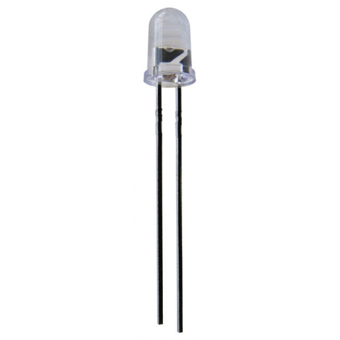 12 VDC ULTRABRIGHT WHITE LED, 5MM