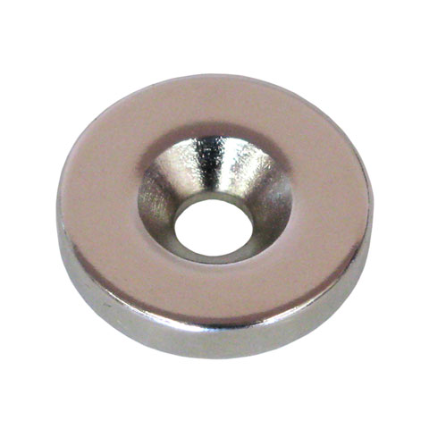 20MM MAGNET W/ HOLE FOR COUNTERSUNK SCREW