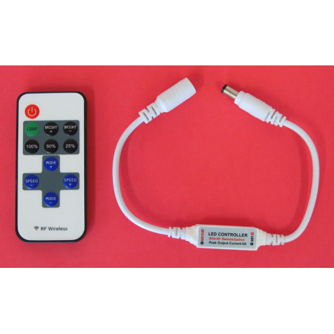LED STRIP CONTROLLER-DIMMER W/ REMOTE