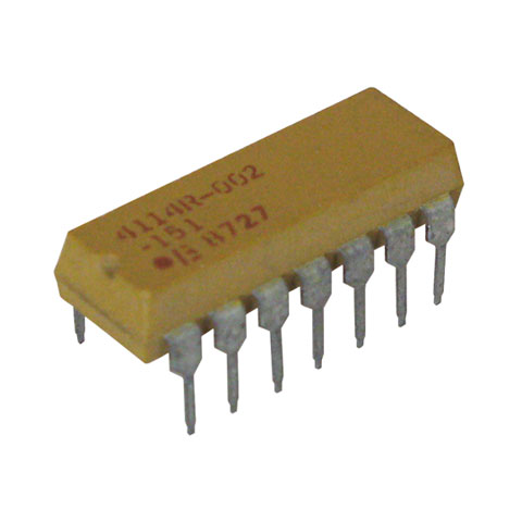 DIP RESISTOR NETWORK, 150 OHM, BUSSED