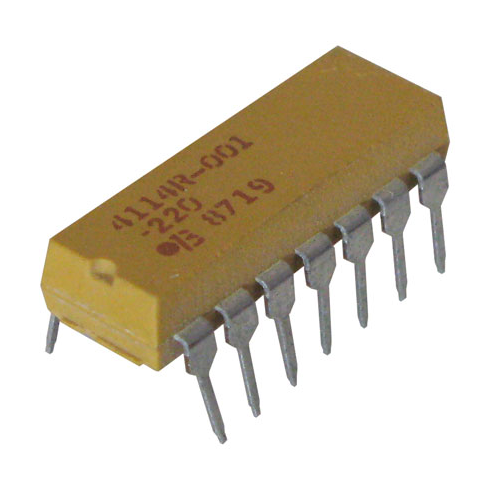 DIP RESISTOR NETWORK, 22 OHM, ISOLATED