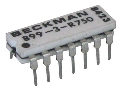 DIP RESISTOR NETWORK, 750 OHM, ISOLATED