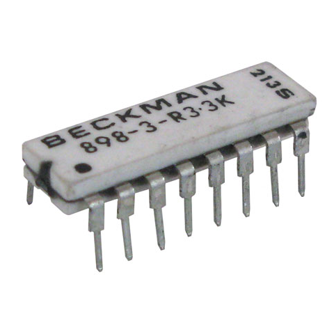 DIP RESISTOR NETWORK, 3.3K, ISOLATED