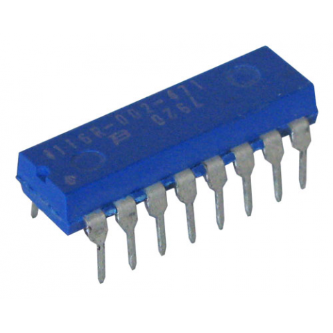 DIP RESISTOR NETWORK, 470 OHM, BUSSED