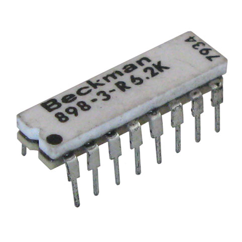 DIP RESISTOR NETWORK, 6.2K, ISOLATED