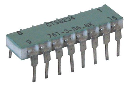DIP RESISTOR NETWORK, 6.8K, ISOLATED