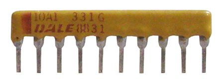 DALE SIP RESISTOR NETWORK, 330 OHM, BUSSED