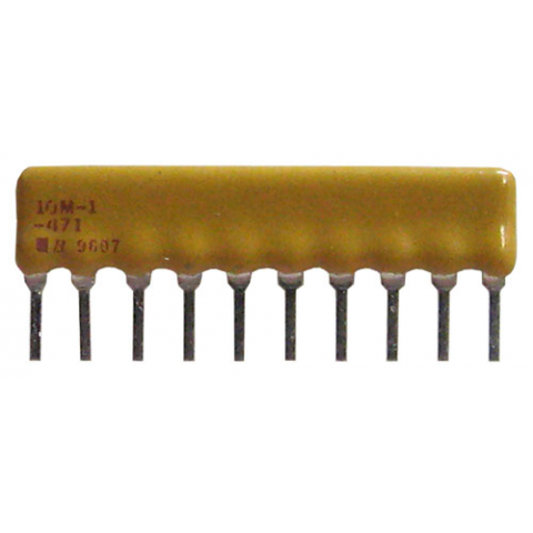 BOURNS SIP RESISTOR NETWORK, 470 OHM BUSSED