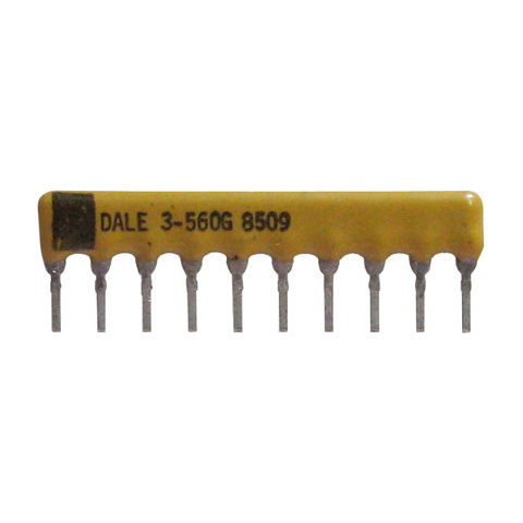 SIP RESISTOR NETWORK, 56 OHM, ISOLATED