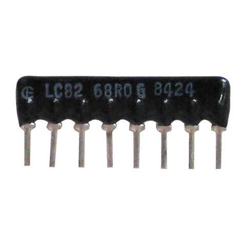 SIP RESISTOR NETWORK, 68 OHM, ISOLATED