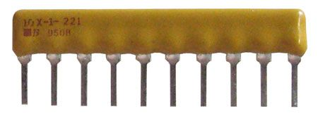 SIP RESISTOR NETWORK, 220 OHM, BUSSED