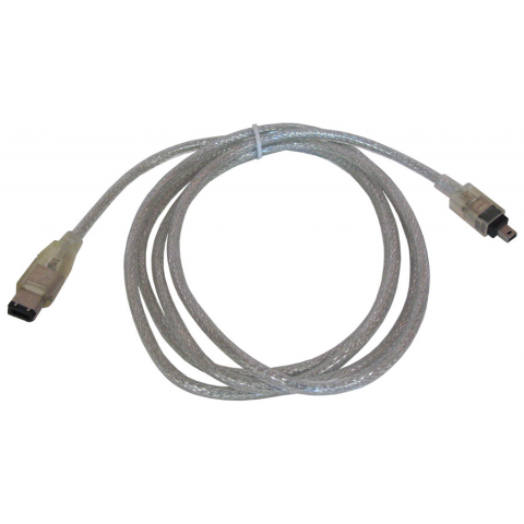 6' FIREWIRE CABLE, 4-PIN MAXI TO 6-PIN MINI