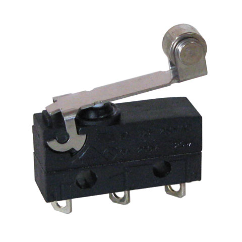 SPDT 6A SNAP ACTION SWITCH W/ SHORT ROLLER LEVER