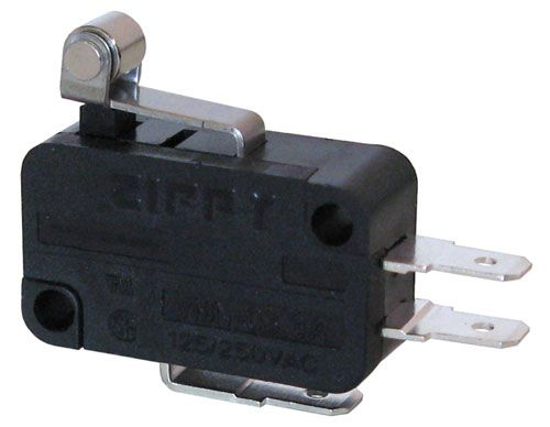 3A SNAP-ACTION SWITCH W/ SHORT ROLLER LEVER