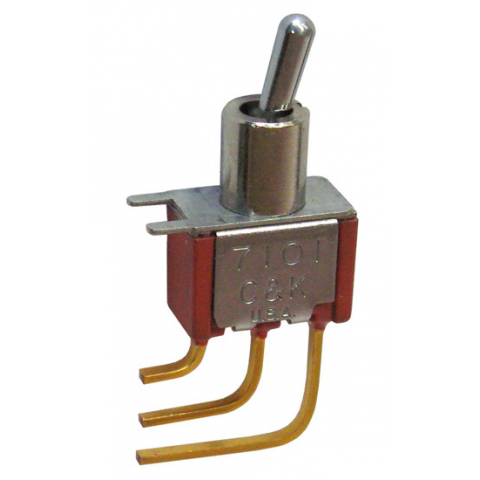 SPDT MINI-TOGGLE SWITCH, PC MOUNT
