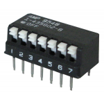 7-POSITION DIP SWITCH, PIANO STYLE