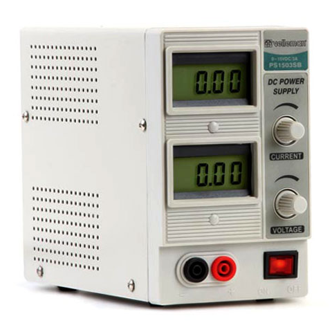 0-15VDC 3A POWER SUPPLY W/ DIGITAL DISPLAY