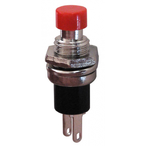 SPST N.C. MOMENTARY PUSHBUTTON, RED