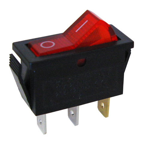 120 vac lighted rocker switch spst all electronics corp rh allelectronics com A B Switch 120 Volt A B Switch 120 Volt