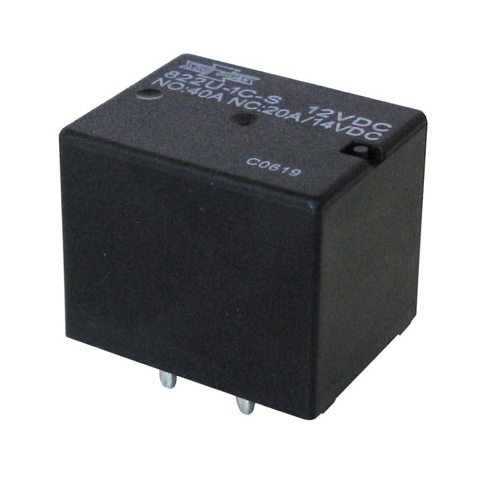 12 VDC SPDT 40A RELAY, PC MOUNT