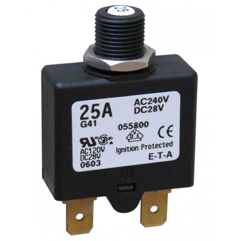 25 AMP PUSH-TO-RESET CIRCUIT BREAKER