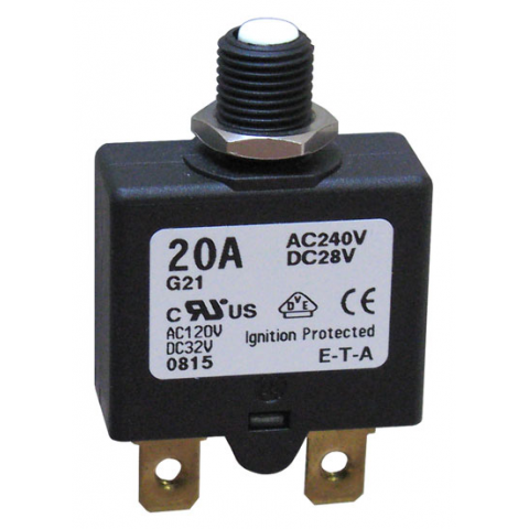 20 AMP PUSH-TO-RESET CIRCUIT BREAKER