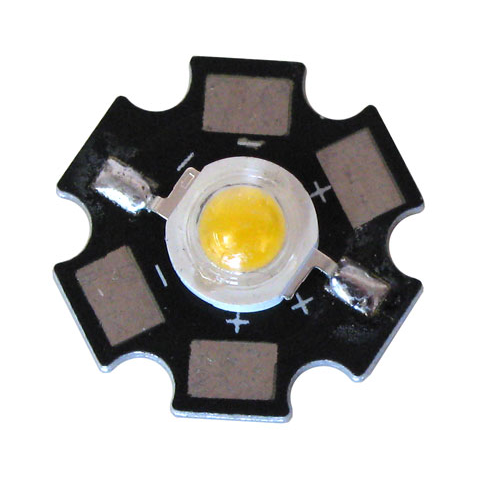 5 WATT LED WARM WHITE WITH STAR HEATSINK