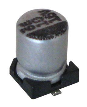 10 UF 16V ELECTROLYTIC CAPACITOR, SURFACE-MOUNT