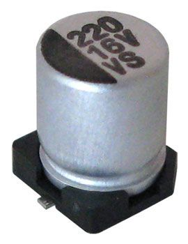 220 UF 16V ELECTROLYTIC CAPACITOR, SURFACE-MOUNT