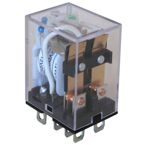 "12VDC DPDT 10A ""ICE CUBE"" RELAY"