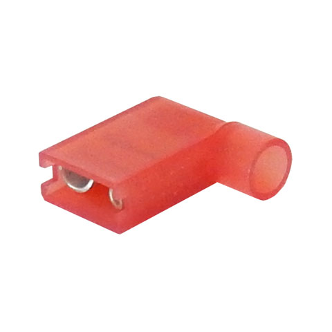 "1/4"" RED FULLY INSULATED FEMALE, FLAG"