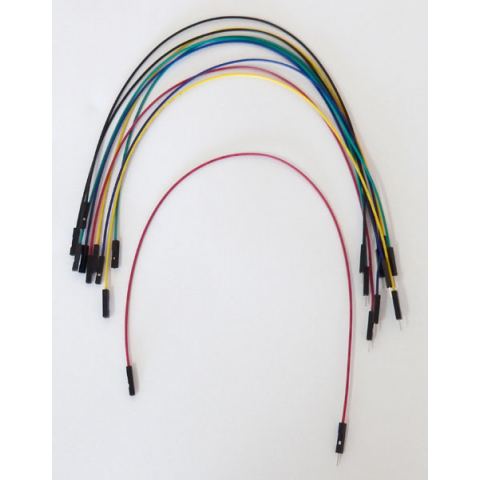 "12"" JUMPERS (AWG 26), M/F 10 PACK"