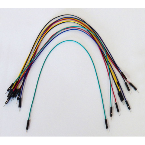 "12"" JUMPERS (AWG 26), M/M 10 PACK"