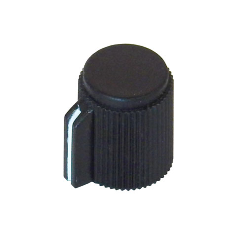 POINTER KNOB FOR 6MM SHAFT, BLACK FACE