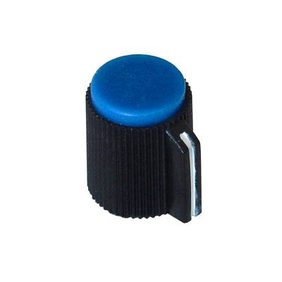 POINTER KNOB FOR 6MM SHAFT, BLUE FACE