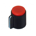 POINTER KNOB FOR 6MM SHAFT, RED FACE
