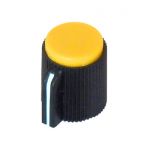 POINTER KNOB FOR 6MM SHAFT, YELLOW FACE