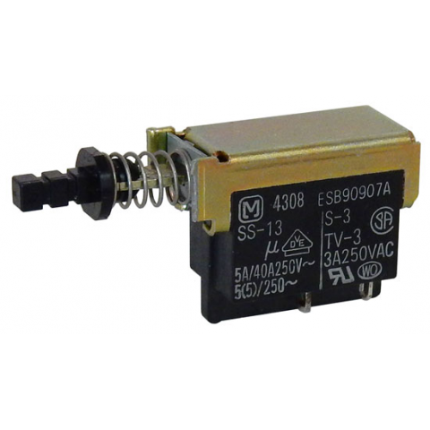 DPST PUSH-ON/PUSH-OFF SWITCH
