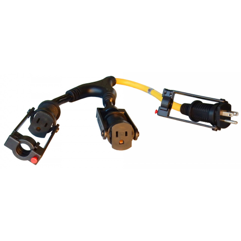 LOCKING POWER CORD Y-CABLE