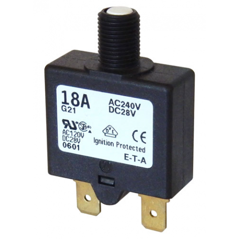18A PUSH-TO-RESET CIRCUIT BREAKER