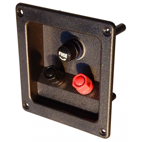 BANANA JACK SPEAKER TERMINALS W/ FUSE HOLDER