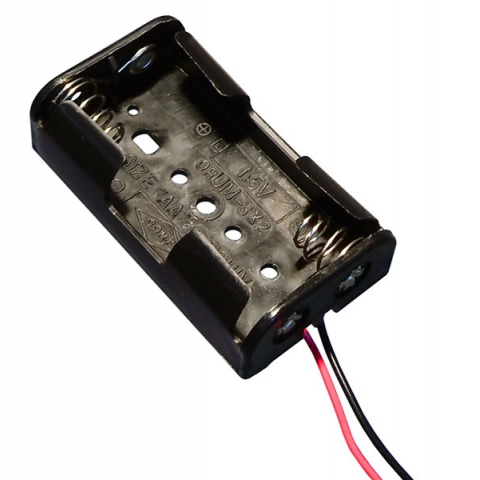 BATTERY HOLDER FOR TWO AA CELLS