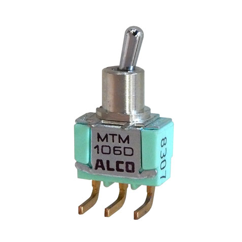 SPDT ON-ON MINI-TOGGLE SWITCH, RIGHT-ANGLE
